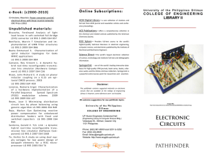 Electronic Circuits - UP College of Engineering Library