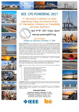 Call for Papers - ieee cpe