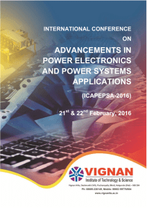 International Conference on Advancements in Power Electronics
