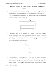 Tutoring Session 12: Time-Varying Magnetic and Electric Fields