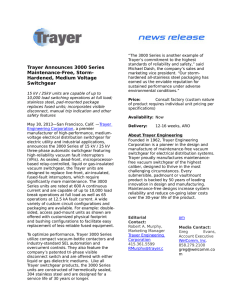 Trayer Announces 3000 Series Maintenance-Free