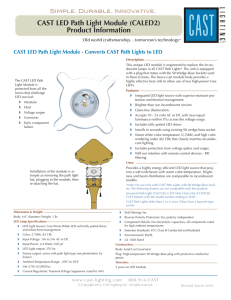 CAST LED Path Light Module (CALED2) Product Information