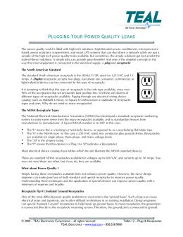 Tidbit12 - Plugs_Receptacles