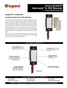 SKYE Series – 0-10V Dimmer Wallstation on