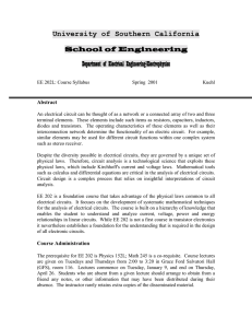 Syllabus - Engineering Class Home Pages