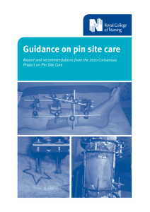 Guidance on pin site care - Royal College of Nursing