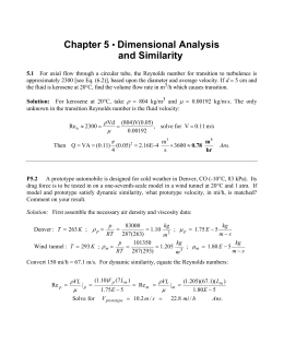 Chapter 5 • Dimensional Analysis and Similarity