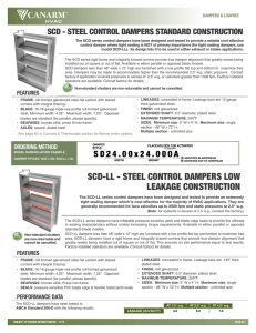 scd-ll - steel control dampers low leakage construction