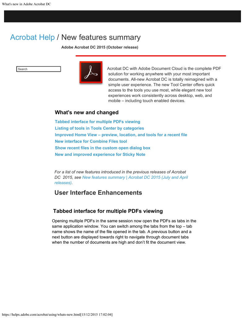 What`s new in Adobe Acrobat DC