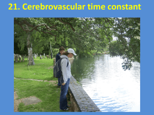 21. Cerebrovascular time constant