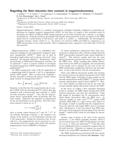 Regarding the Neel relaxation time constant in magnetorelaxometry