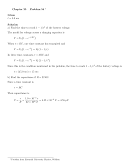 Chapter 25 Problem 54 † Given t = 5.0 ms Solution a) Find the time