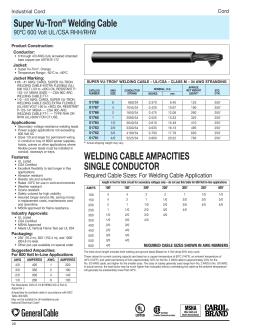 Welding cable ampacities single super vu tron welding cable welding cable greentooth Image collections