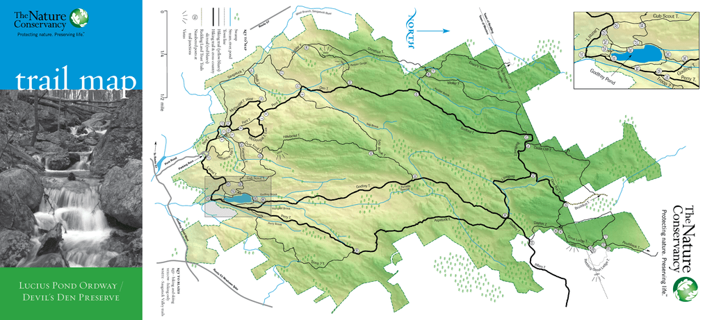 Devil\\\'s Den Map Lucius Pond Ordway / Devil`s Den Preserve nor th