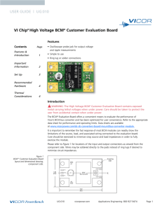 VI Chip® High Voltage BCM® Customer Evaluation Board