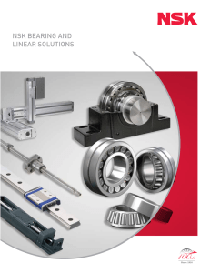 NSK BEARING AND LINEAR SOLUTIONS