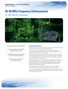 30-90 MHz Frequency Enhancement