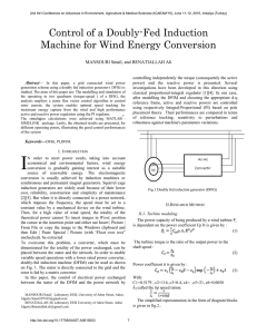 Control of a Doubly-Fed Induction Machine for Wind Energy