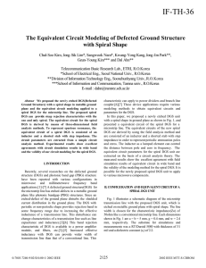 The Equivalent Circuit Modeling of Defected Ground Structure with