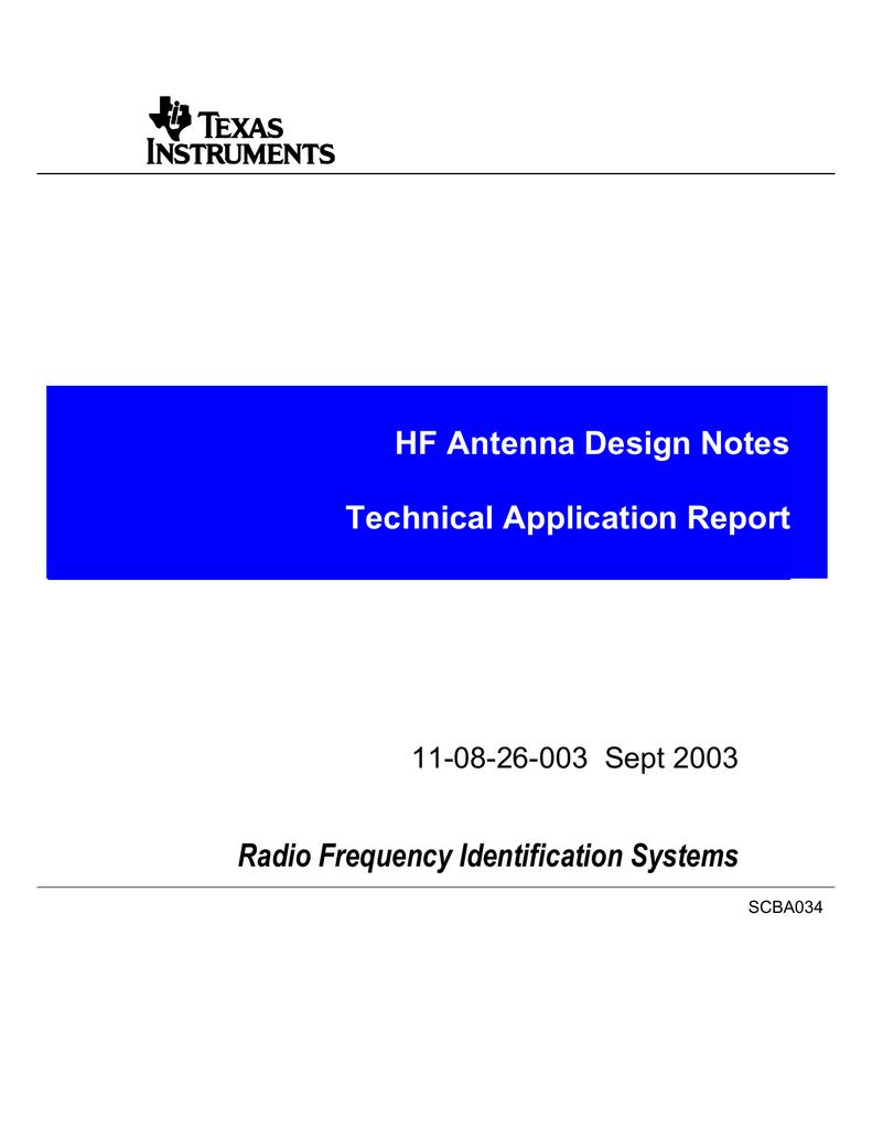 HF Antenna Design Notes (11-08-26-003)