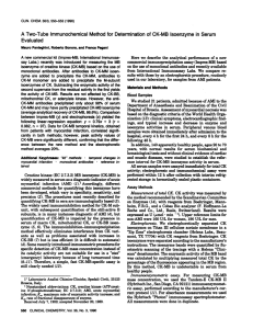 A Two-Tube Immunochemical Method for Determination of CK