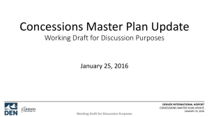 Concessions Master Plan Update