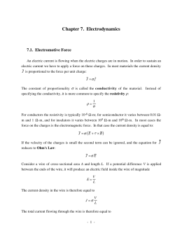 Chapter 7. Electrodynamics