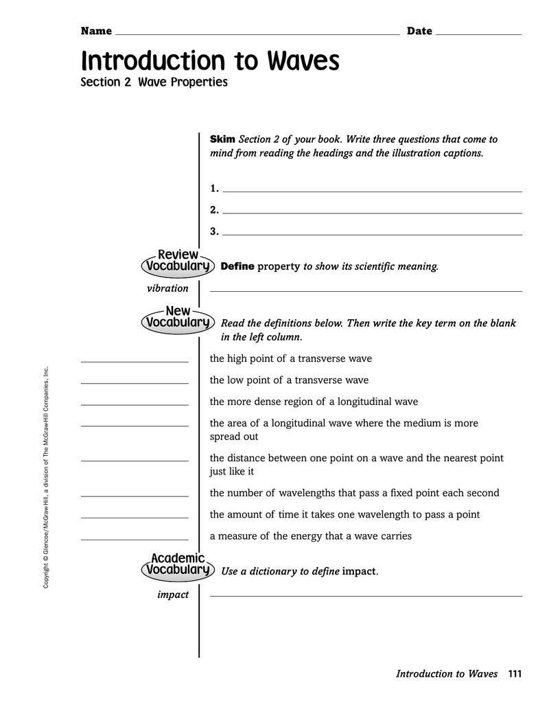 worksheet Wave Characteristics Worksheet 018487676 1 99ea06eb82385cc022e5382f3d2c6eec png