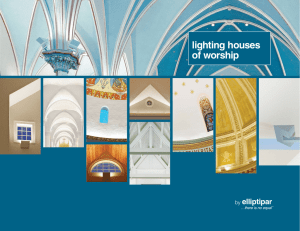 lighting houses of worship