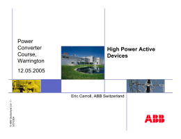 High Power Active Devices.