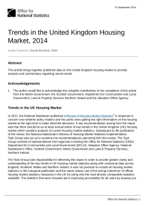 Trends in the United Kingdom Housing Market, 2014