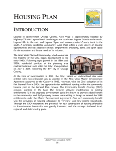 housing plan - City of Aliso Viejo