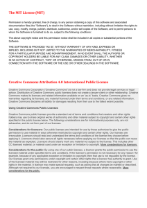 The MIT License (MIT) Creative Commons Attribution 4.0