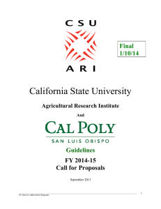 California State University Agricultural Research Institute (ARI)