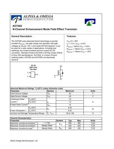 AO4468 MOSFET N-channel Enhancement Mode Field Effect Transistor