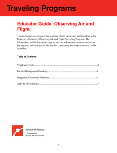 Educator Guide: Observing Air and Flight