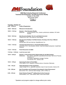 Speakers and program subject to change without prior notice. 2009