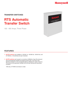 Honeywell RTSZ200G3 Three Phase Brochure