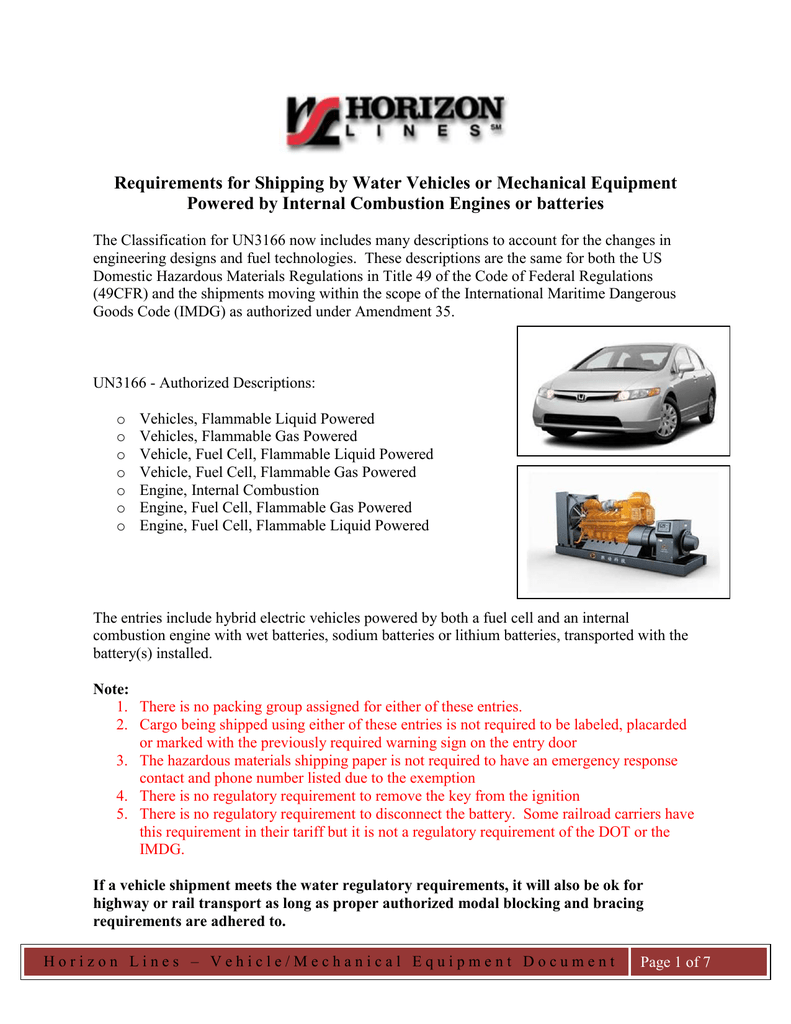 Automobile and mechanical equipment handling