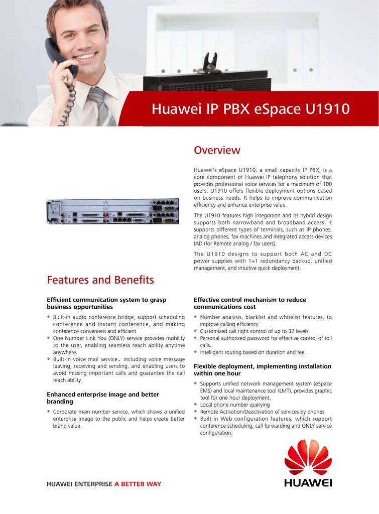Huawei IP PBX eSpace U1910