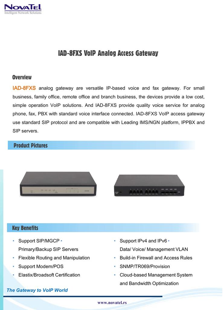 IAD-8FXS VoIP Analog Access Gateway