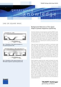 knowledge - TRUMPF Hüttinger