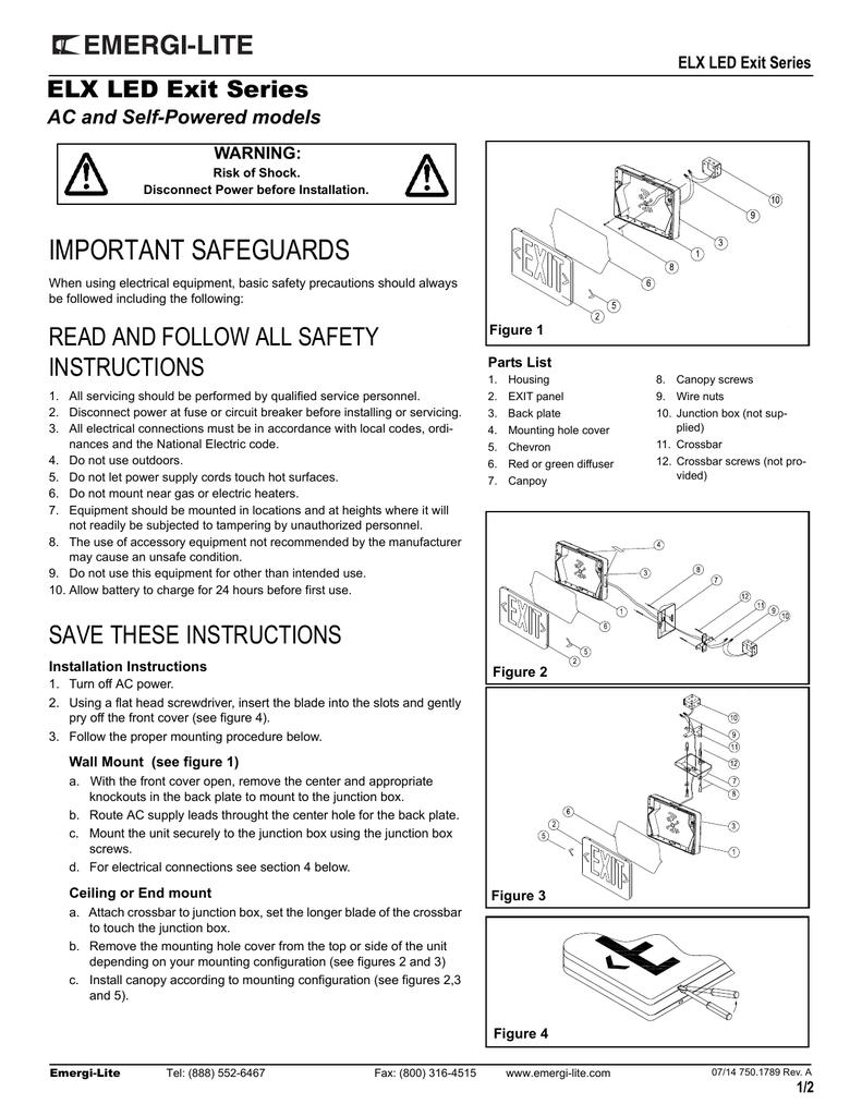 Emergi Lite Wiring Diagram Database Dual Emergency Ballast Elx Series Lighting Exit Signs Lights