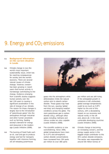 Energy and CO2 emissions