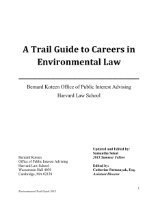 A Trail Guide to Careers in Environmental Law