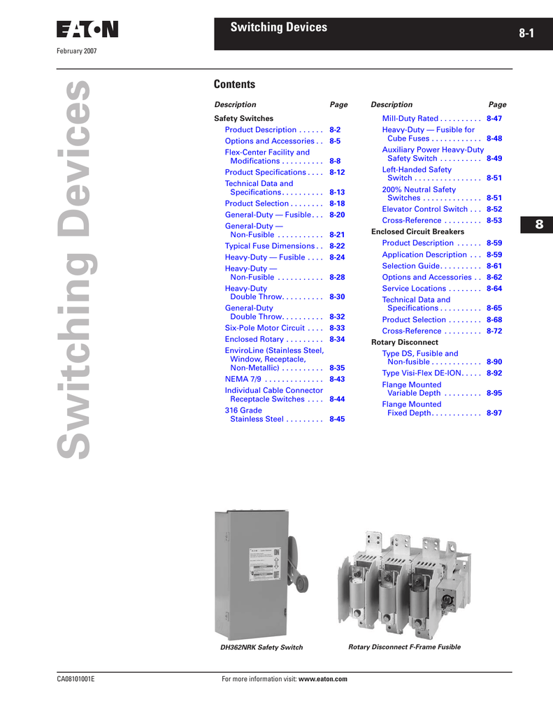 Switching Devices - Tri-State Electrical Supply