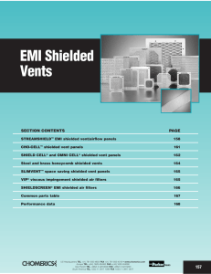 data on EMI Shielded Vents