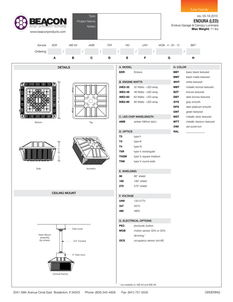 Endura Led Beacon Products Engine Diagram