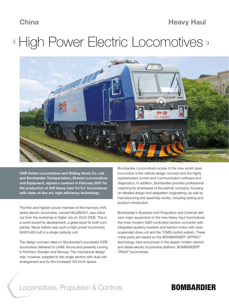 High Power Electric Locomotives