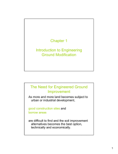 Chapter 1 Introduction to Engineering Ground Modification The